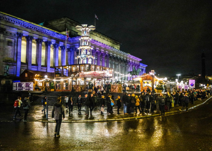 Liverpool Christmas Market at St. George's Hall